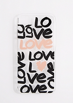 Allover Love Clear Phone Case for iPhone 6/6S/7