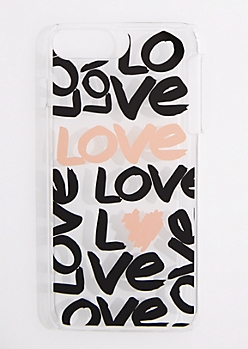 Allover Love Clear Phone Case for iPhone 6 Plus/7 Plus