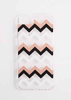Metallic Chevron Clear Phone Case for iPhone 6/6S/7