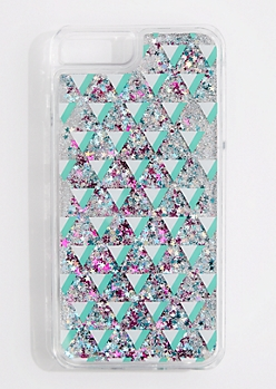 Geo Triangle Liquid Glitter Phone Case for iPhone 6 Plus/7 Plus