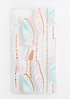 Boho Feathers Case for iPhone 6 Plus/ 7 Plus