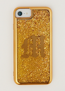 M Gold Glitter Case for iPhone 6/6S/7