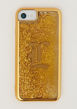 L Gold Glitter Case for iPhone 6/6S/7