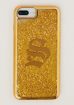 S Gold Glitter Case for iPhone 6 Plus/7 Plus