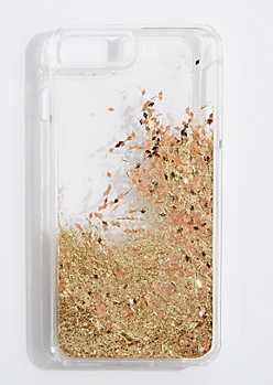 Golden Floating Glitter Case for iPhone 6 Plus/7 Plus