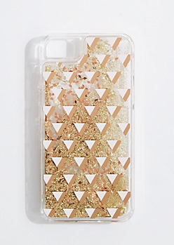 Geo Floating Glitter Case for iPhone 6/7