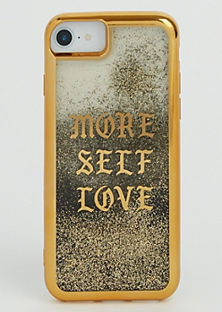More Self Love Glitter Case for iPhone 6/6S/7
