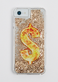 Dollar Sign Floating Glitter Case for iPhone 6/6s/7