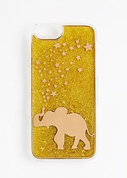 Golden Elephant Glitter Case For iPhone 6S/6