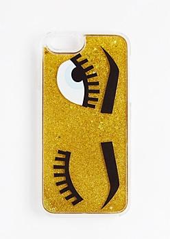 Golden Wink Glitter Case For iPhone 6S/6