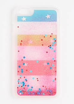 Floating Glitter & Stars Case for iPhone 6 Plus