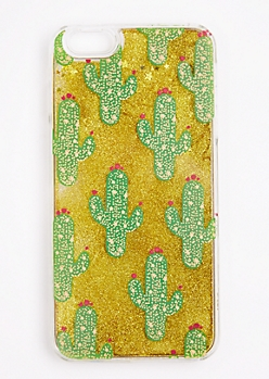 Cactus Glitter Case For iPhone 6 Plus / 6s Plus