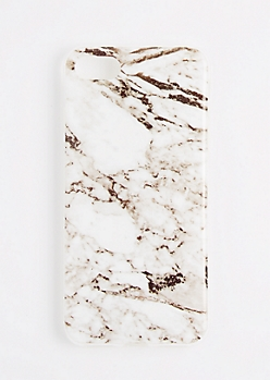 White Marbled Flex Phone Case for iPhone 7