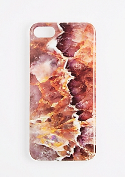 Red Marbled Flex Phone Case for iPhone 7