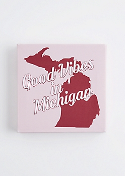 Good Vibes in Michigan Canvas