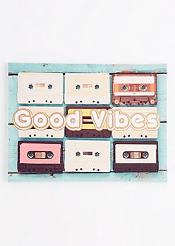 Good Vibes Cassette Stretched Canvas