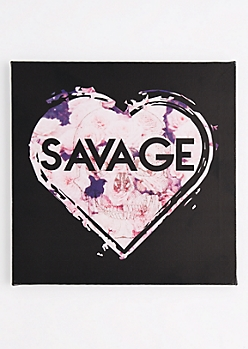 Savage Heart Stretched Canvas