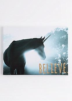 Unicorn Believe Canvas
