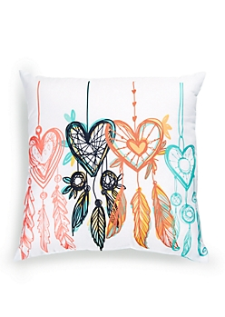 Multi Heart Dreamcatcher Pillow