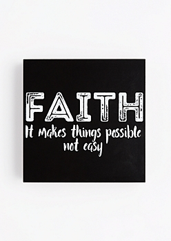 Faith Wooden Wall Hanging