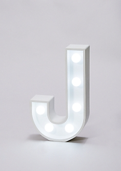 Initial J Marquee Light
