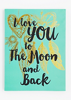 Moon & Back Dreamcatcher Stretched Canvas