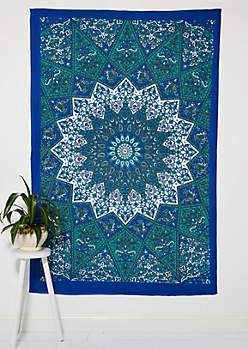 Starburst Mandala Wall Tapestry