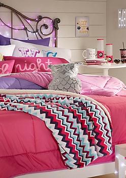 Full/Queen - Fuchsia Ombre Comforter Set