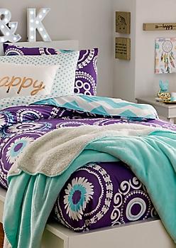 Twin - Boho Chevron 5-Piece Comforter Set