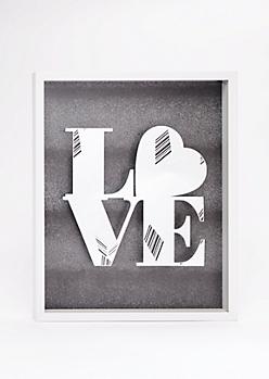 Love Shadow Box Wall Art