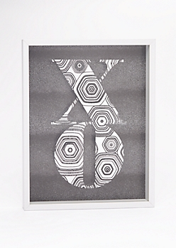 XO Shadow Box Wall Art