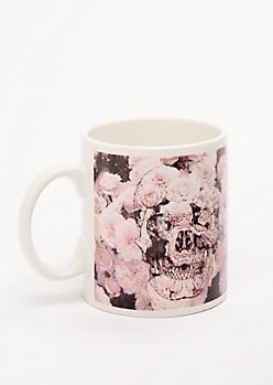 Rosy Skull Oversized Mug