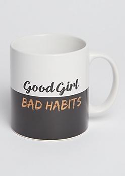 Good Girl Bad Habits Oversized Mug