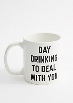 Day Drinking To Deal With You Round Mug