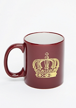 Gold Foil Crown Oversized Mug