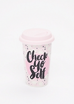 Check Yo Self Travel Mug