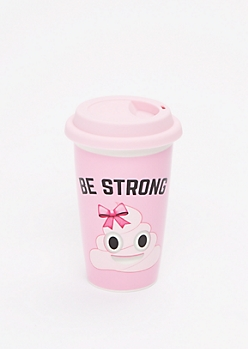 Be Strong Poo Emoji Travel Mug