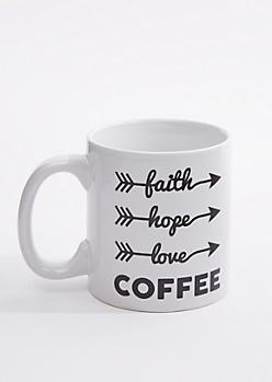 Faith Hope Coffee Oversized Mug