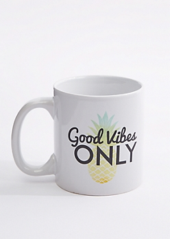 Good Vibes Only Pineapple Oversized Mug