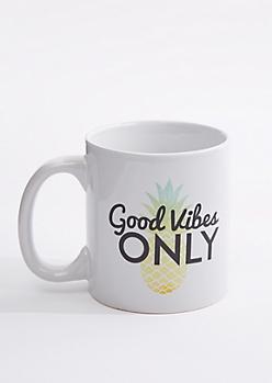 Good Vibes Only Pineapple Oversized Mug