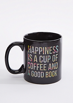 Happiness Is Coffee & a Book Oversized Mug