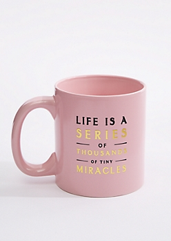 Tiny Miracles Gold Accent Oversized Mug