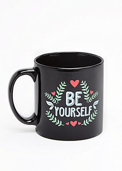 Be Yourself Retro Floral Oversized Mug