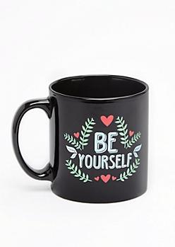 Be Yourself Retro Floral Oversized Mug
