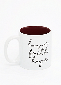 Love Faith Hope Mug