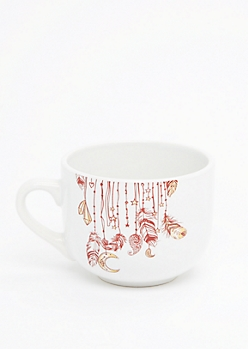 Boho Feather Drop Round Mug