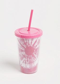 Pink Tie Dye Tumbler