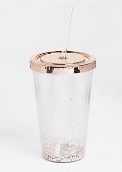Copper Geo Sparkle Tumbler