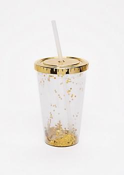 Gold Glitter Tumbler