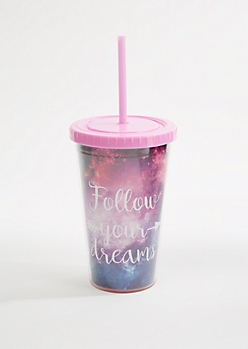 Follow Your Dreams Galaxy Tumbler